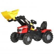 Tractor cu pedale Rolly Toys, Massey Ferguson 7726 cu incarcator frontal