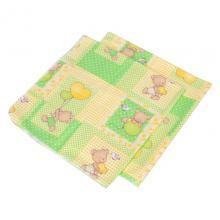 BabyNeeds - Scutec finet 75/75 cm, 2 bucati, Ursuleti colorati, Verde