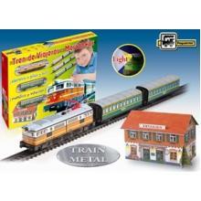 Trenulet Electric Calatori cu Far si Macheta (clasic)