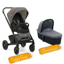 Joie - Set Carucior multifunctional 2 in 1 Chrome Foggy Gray + Landou Chromium
