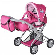 Carucior Pentru Papusi cu Gentuta Kyra Pink With Butterfly