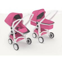 Carucior 2 In 1, Greentom, 100% Ecologic, White Pink