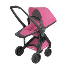 Carucior, Greentom, Reversible, 100% Ecologic, Black Pink