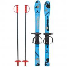 Skiuri copii 90 cm - Marmat - Albastru