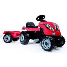Tractor cu Pedale si Remorca Smoby Farmer XL, Rosu