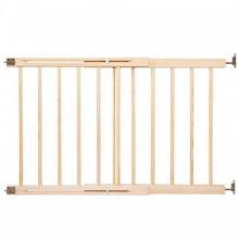 Poarta de siguranta extensibila din lemn natur 72-122 cm Springos Wooden