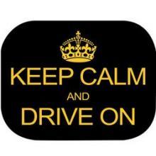 Set 2 Parasolare Keep Calm and Drive On Eurasia