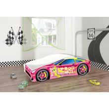 Pat Tineret MyKids Race Car 08 Pink-160x80