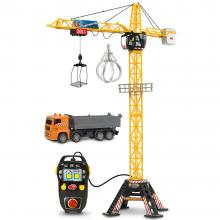 Jucarie Dickie Toys Macara Mega Crane cu camion si telecomanda